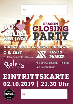 Eintrittskarte - SEASON OPENING PARTY