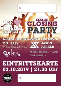 Eintrittskarte - SEASON CLOSING PARTY