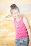 Girls' Long Length Vest 10/12 / Punk Pink Cala Ratjada