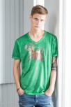 "Herren V-Neck T-Shirt ""Gipsy"" S / fern green Cala Ratjada"