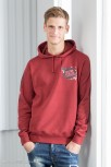 Hooded Sweatshirt Men S / Dark Heather Red Cala Ratjada