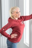 Ladies Hooded Sweatshirt XS / Dark Heather Red Cala Ratjada